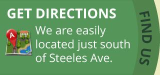 Get Directions | We are easily located just south of Steeles Ave.